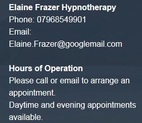 ElaineFrazerHypnotheray