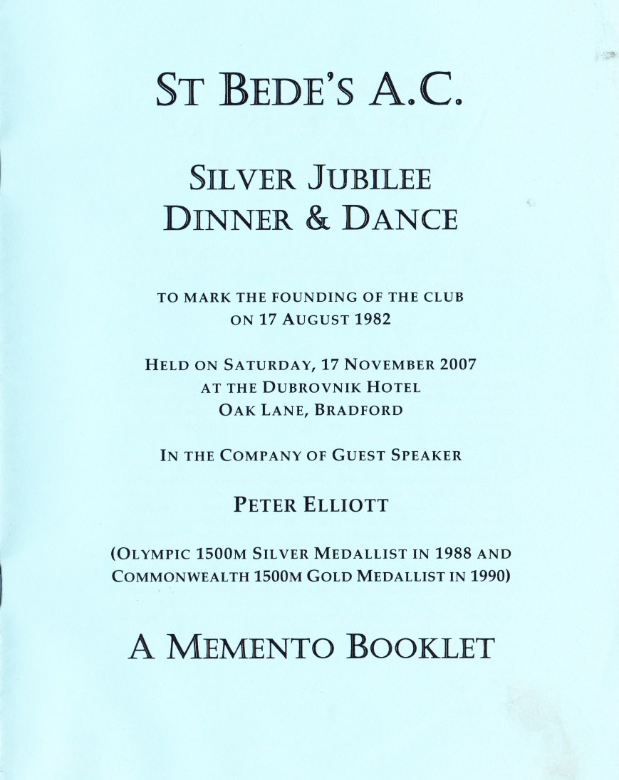Silver Jubilee dinner booklet